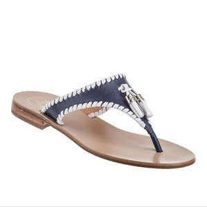 NWT Jack Rogers Alana leather Thong Sandals